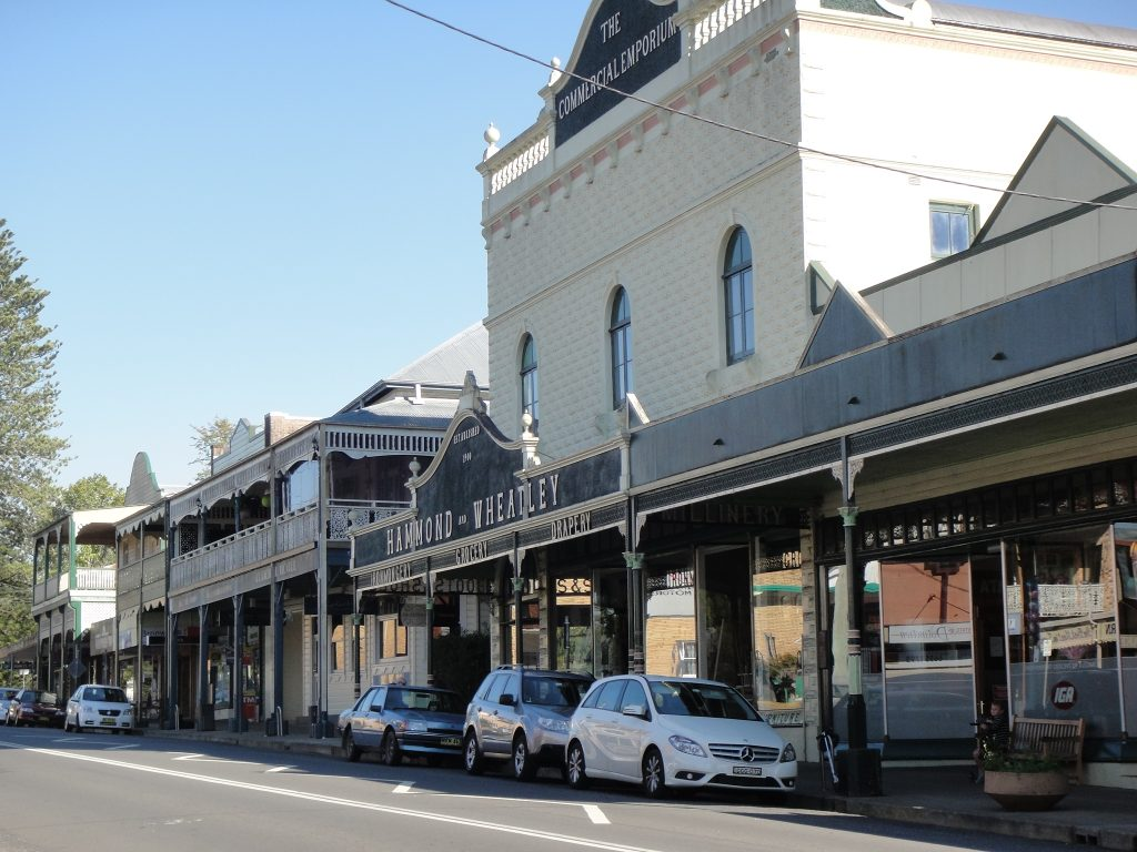 Beautiful quaint Bellingen, a lovely quiet town on the Mid North Coast of Australia