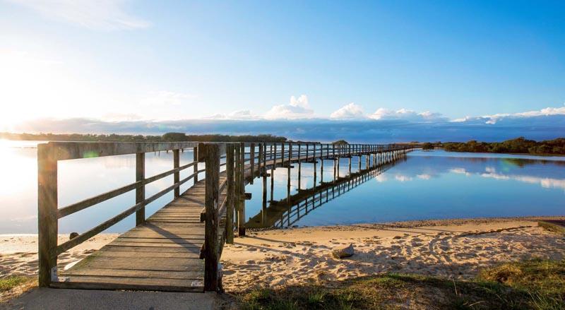 Urunga jetty and beautiful seaside