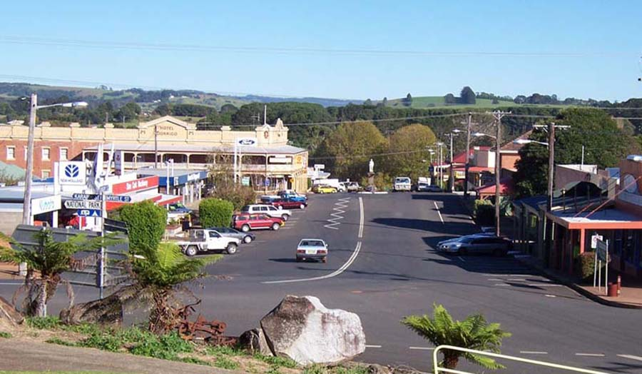 Dorrigo town, on the Dorrigo Mountain plateau
