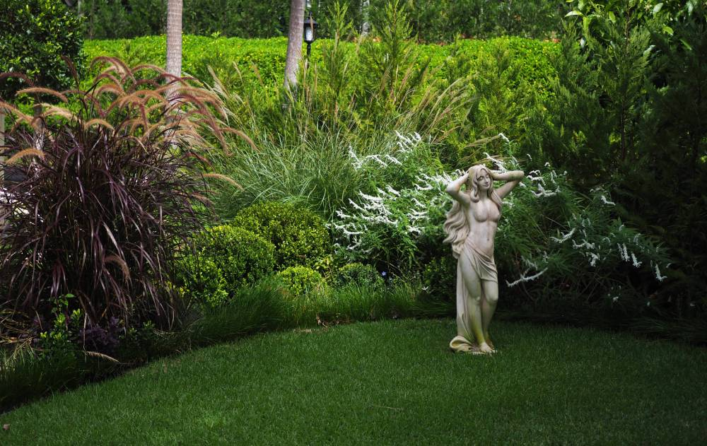 Formal gardens at Hermes Estate luxury retreat