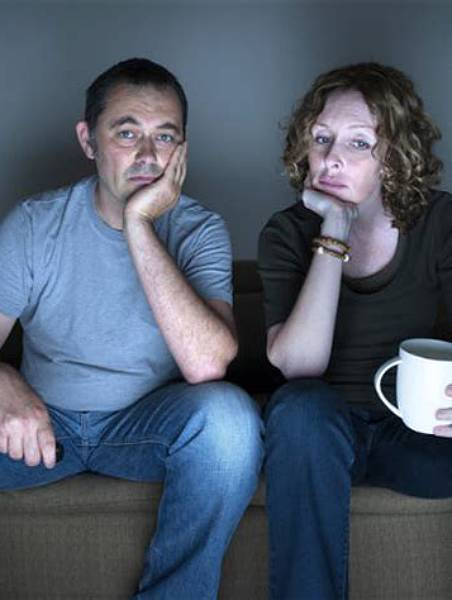 Bored couple with relationship problems, couples therapy retreat