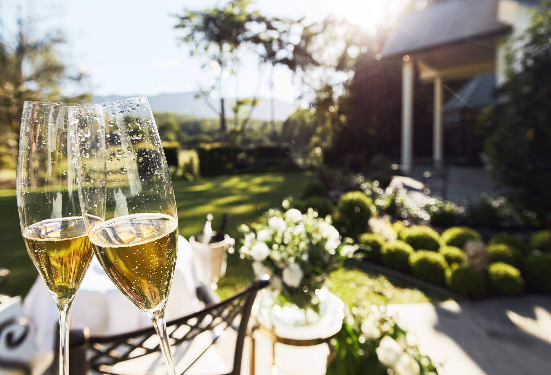 Champagne alfresco breakfast at Hermes Estate