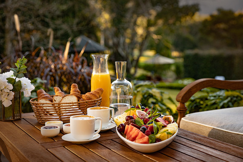 Hermes Estate alfresco dining -private hotel luxury accommodations