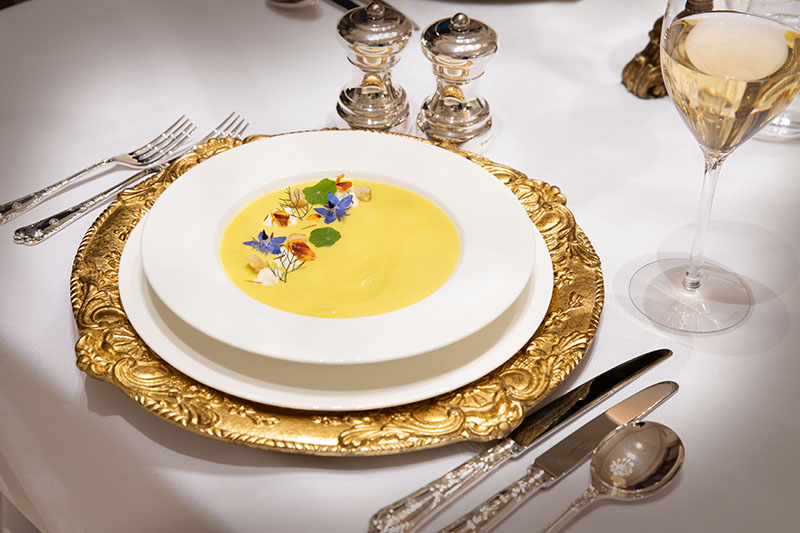 Delicious cuisine from your private executive French chef