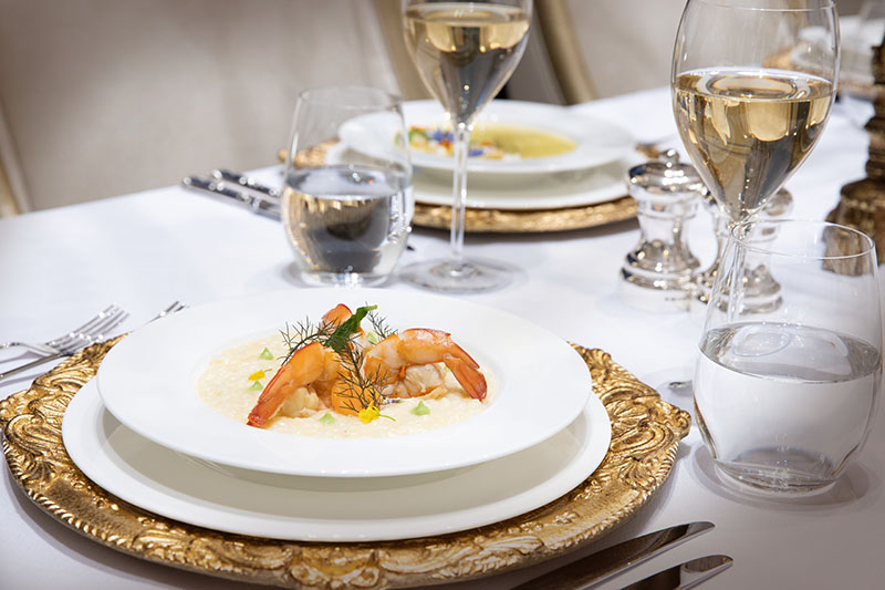 Exclusive dishes at Hermes Estate, fine dining cuisine