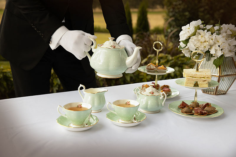 Elegant high tea party at Hermes Estate