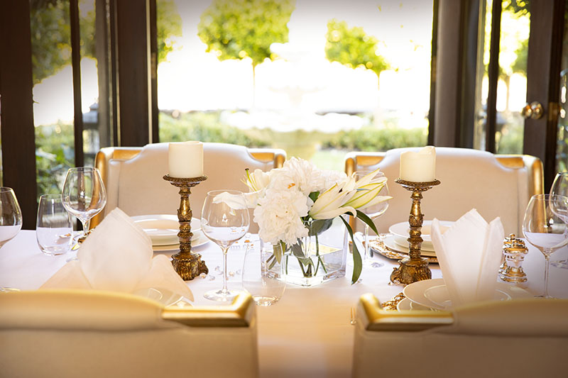 Luxury five star private dining room and personal executive chef