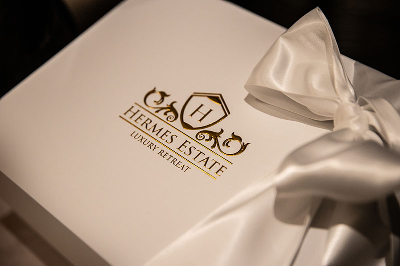 Hermes Estate - guest welcome gift box