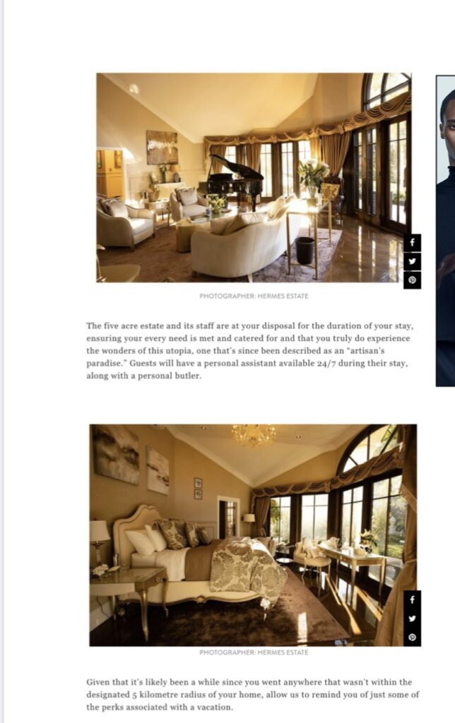 GQ Magazine article for Hermes Estate Press Coverage
