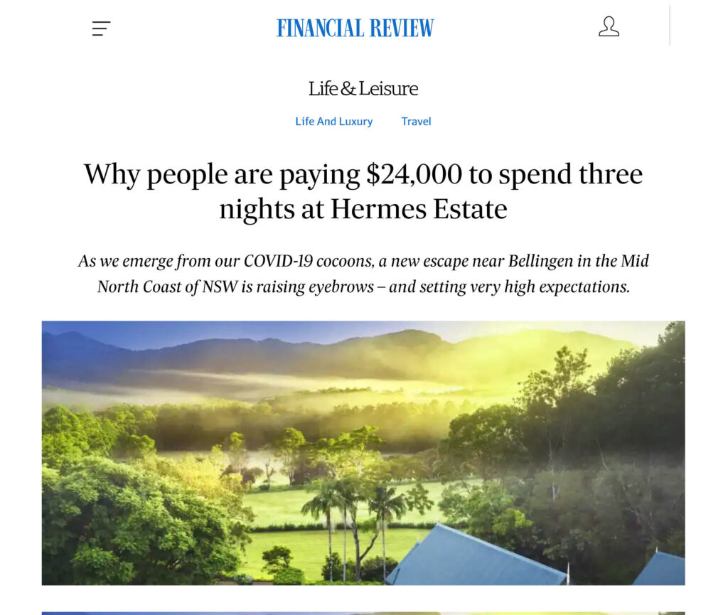 why people are paying $24,000 for three nights at Hermes Estate